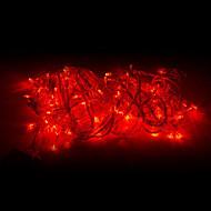 أضواء سلسلة 10m 100 المصابيح الحمراء 220v عيد الميلاد الديكور مصباح سلسلة