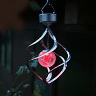 Solar LED Színváltó Saturn Wind Spinner Hanging Spiral Fény