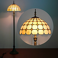 billige Lamper-Mushroom Design Floor Lamp, 2 Light, Tiffany Resin Glass lakkeringsmetode