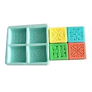 baratos Utensílios para Biscoitos-Ferramentas bakeware Silicone Amiga-do-Ambiente Bolo / Biscoito / Chocolate Moldes de bolos 1pç