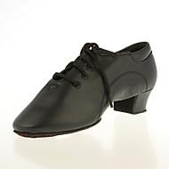 Χαμηλού Κόστους Παπούτσια χορού-Ανδρικά Παιδικά Λάτιν Αίθουσα χορού Δερματίνη Οξφόρδης Κορδόνια Χαμηλό τακούνι Μαύρο Μαύρο Μη Εξατομικευμένο