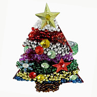 Christmas Tree șervețele inel set de 12, acril Dia 4,5 cm