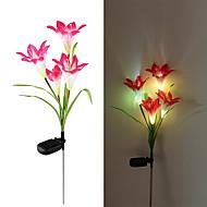 cheap Pathway Lights-Solar LED Flower Light (1049-CIS-28077) High Quality Outdoor Lighting
