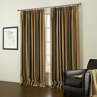 billige Gardiner-european to paneler stripe gul stue polyester panelgardiner gardiner