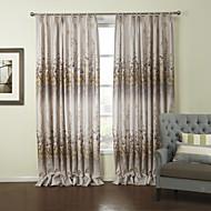 billige Gardiner-landets to paneler floral botaniske grå roms polyester panelgardiner gardiner