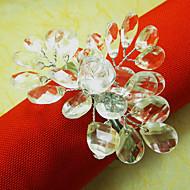 Crystal Wedding Serviett Ring, akryl Wire Dia 4,5 cm