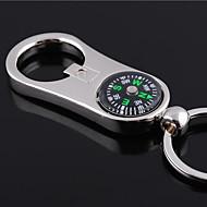 preiswerte -Individuelle Gravur Geschenk Curve Compass Stil geformt Schlüsselbund