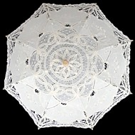 "billiga Brudparaplyer-Posthandtag Spets Bröllop Maskerad Paraply Paraplyer 29.9""(ca. 76cm)"