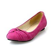 baratos Sapatos de Tamanho Pequeno-Feminino Sapatos Sintético Primavera Verão Outono Rasteiro Com Laço Para Casual Festas & Noite Transparente Preto Vermelho Azul