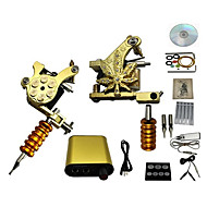 cheap Discount Tattoo Kits-Tattoo Machine 2 cast iron machine liner & shader High Quality Classic Daily