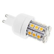 G9 LED-kornpærer 30 leds SMD 5050 Varm hvit 400lm 3000-3500K AC 110-130V
