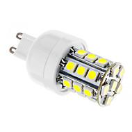 tanie Więcej Kupujesz, Więcej Oszczędzasz-G9 3W 27x5050SMD 350lm 6000-6500K Super White Light LED Corn żarówki (AC 220-240V)