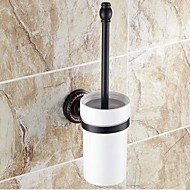 cheap Oil-rubbed Bronze Series-Toilet Brush Holder Traditional Brass Ceramic Oil Rubbed Bronze