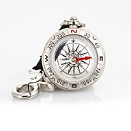 cheap Camping Tools, Carabiners & Ropes-T49 Multi-function Liquid-Filled Pirate Compass Strap / Keychain - Silver
