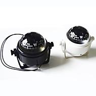 billiga Camping Verktyg, Karbinhakar & Rep-Marina Plast Kompass med stativ och Båt Husvagn Lastbil 12V LED-ljus ZW-550--Black/White