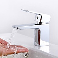 moderne centresæt keramisk ventil et hul enkelt håndtag et hul krom, badeværelse håndvaske vandhaner vandhaner
