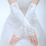 cheap Wedding Gloves-Tulle Polyester Elbow Length Glove Classical Bridal Gloves Party/ Evening Gloves With Solid