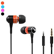 Fashion Awei Q3I 3.5mm Plug In-Ear Aluminum Alloy Super Bass mikrofon Earphones-(orange / blå / sort)