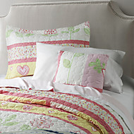 Novelty Polyester Material 1pc Quilt 1pc Toss Pillow Cover 1pc Sham