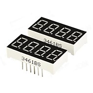 "DIY 0.36 ""4-Digit Digitale 7-segment display - Zwart (2 stuks)"