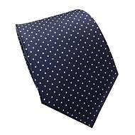 clasic bleumarin profesional albastru polka dots gât cravată pentru bărbați