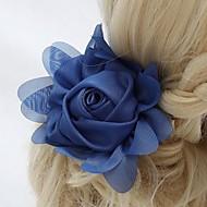 billiga Brudhuvudbonader-Chiffong Kristall Tyg Tiaras Blommor 1 Bröllop Speciellt Tillfälle Fest / afton Utomhus Hårbonad