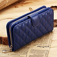 Women Bags Sheepskin Wallet for Event/Party Casual Sports Formal Winter Summer All Seasons Gold Black Fuchsia Blue Pink