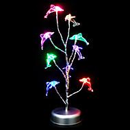 Fargerik Delfinform Plast Bordlampe