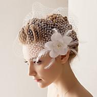 Gelin Duvakları Tek kat Allık Başlığı 10-20 cm Tül Beyaz A-line,Balo Elbisesi,Prenses,Dar / Sütun,Trompet/ Denizkızı