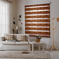 Gold Silk Jacquard Zebra Blinds