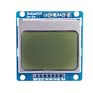 """ieftine Monitoare-1.6 """"nokia 5110 LCD modul albastru cu iluminare din spate pentru (pentru Arduino)"""