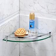 お買い得  クローム Series-浴室棚 コンテンポラリー ステンレス鋼 / ガラス 1枚 - ホテルバス