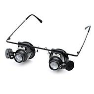 Microscópio Lupas Óculos de lupa Brinquedo Educativo Nível Profissional Lentes com Luz de LED Clássico Vidro ABS Clássico Infantil Para