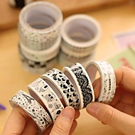 zwart en witte decoratieve tape (willekeurige kleur 1 stks) voor school / kantoor