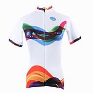 ILPALADINO Cykeltrøje Dame Kortærmet Cykel Trøje Toppe Cykeltøj Hurtigtørrende Ultraviolet Resistent Åndbart Stribe Cykling / Cykel
