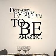 palavras cita adesivos de parede personalidade moderna decalques de parede incrível pvc
