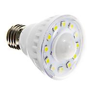 billige Spotlys med LED-1pc 2 W 85-150 lm E26 / E27 LED-spotpærer A60(A19) 12 LED perler SMD 5050 Sensor Varm hvit / Kjølig hvit 220-240 V / RoHs