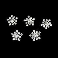 10pcs taklidi snownflake diy aksesuarları tırnak sanat dekorasyon