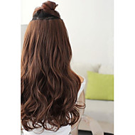 Synthetic Long Wave Dark Brown 5 Clip-in Hair Extension 120g Heat Resistant Fiber
