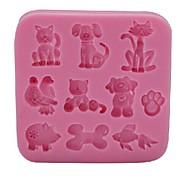 hesapli -Bakeware araçları Silikon Çevre-dostu / 3D / Kendin-Yap Kek / Kurabiye / Çikolota Hayvan Pişirme Kalıp 1pc