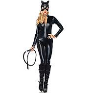 Zentai Dragt Cosplay Kostumer Superhelte Flagermus Film Cosplay Sort Trikot/Heldragtskostumer Halloween Jul Karneval Nytår Kvindelig
