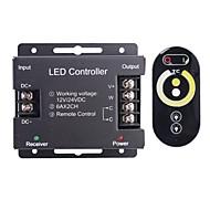 billige Lysbrytere-6a 2-kanals trådløse RGB LED-kontroller med berørings fjernkontroll for RGB LED strip lampe (12 ~ 24V)