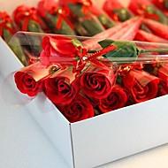 baratos -1 peças presentes de Natal rosa forma de sabão flores
