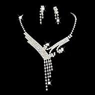 Pentru femei Ștras costum de bijuterii Aliaj Pentru Nuntă Petrecere Ocazie specială Zi de Naștere Logodnă Cadouri de nunta