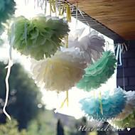 10 inch papieren bloem partij decoraties - set van 4 (meer kleuren)