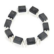 el817 Eisen + Kunststoff Optokoppler / Optokoppler - schwarz (10 Stück)