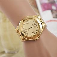Kadın's Elbise Saat Moda Saat Quartz Alaşım Bant Gümüş Altın Rengi