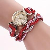 Mulheres Bracele Relógio Relógio de Moda Quartzo PU Banda Brilhante Boêmio Preta Azul Vermelho Marrom Verde Rosa