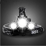 זול פנסים-פנסי ראש פנסי אופניים פנס קדמי לאופניים פנס קדמי LED Cree T6 רכיבת אופניים נטענת 18650 3000 Lumens סוללה מחנאות/צעידות/טיולי מערות שימוש