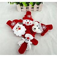クリスマスギフト クリスマス向けおもちゃ スラップアームバンド おもちゃ 雪だるま キュート サンタクロース 子供用 1 小品